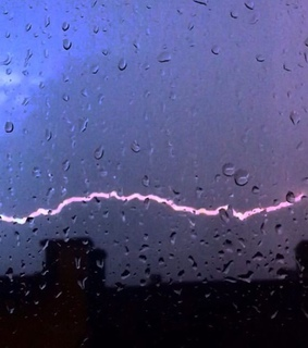 lightning, nature and purple