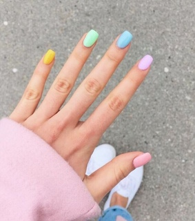 colorful nails, beauty and colors