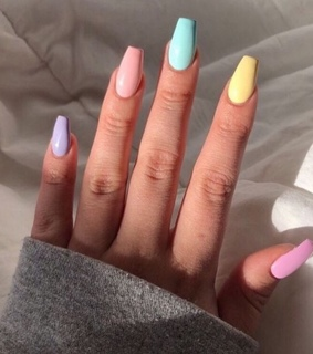 cute, rainbow nails and fun