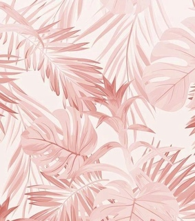 pink, navy and plants