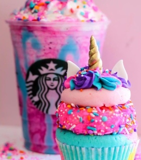 colores, comida and cupcakes