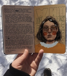 art journal, aesthetic and cold