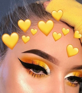 prom makeup, makeup goals and yellow makeup