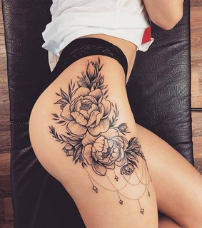 Tattoos, flowers and tattoo