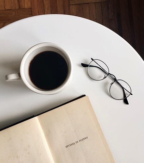 drink, cup and read