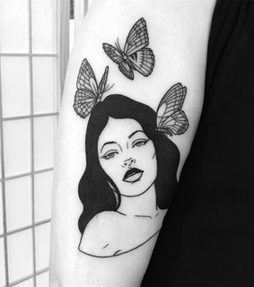 aesthetic, Tattoos and butterfly