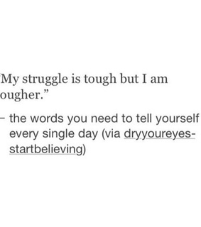 important, tougher and tough