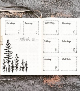 weekly overview, bullet journaling and bullet journal