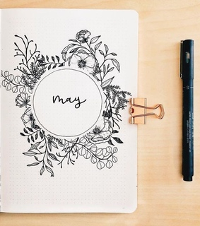 bullet journal, drawing and may
