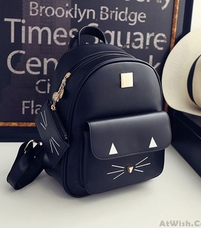 backpack, bags and black