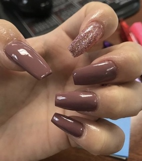 nail art, sparkle and brown nails
