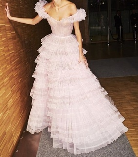 baby pink, ballgown and chic