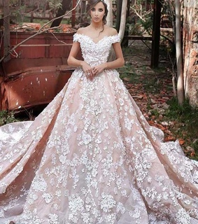wedding dress, ball gown and bridal gown