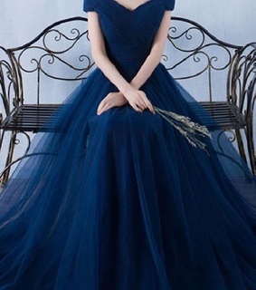 blue dress, ravenclaw and prom dress