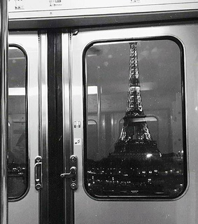 night, photo and eiffel tower