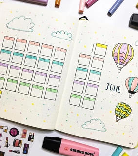 bujo monthly, bujo and planner