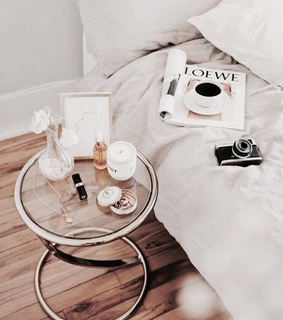 bed, coffee and home