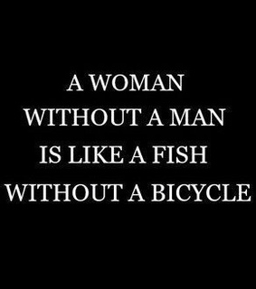 bicycle, fish and girl power