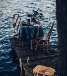 dinner, evening and open air