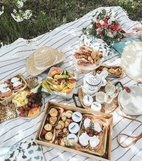 picnics, summer and lunch