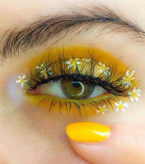 brows, eye and flowers