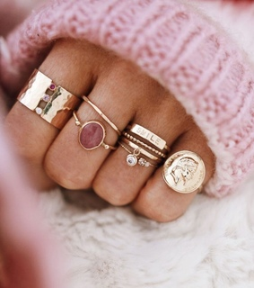 rings, pink and jewelry