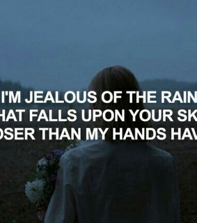 jealous, unrequited and hurt