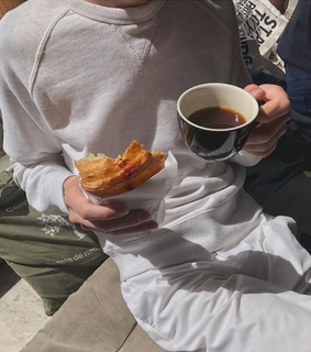 classy, coffee and croissant
