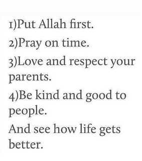 Iman, respect and pray