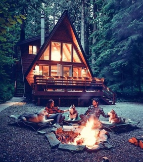 bonfire, camping and couple