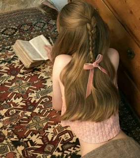 book, bow and braid