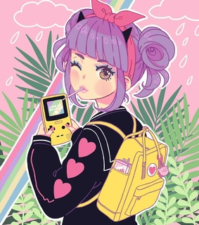 art, cute and gameboy