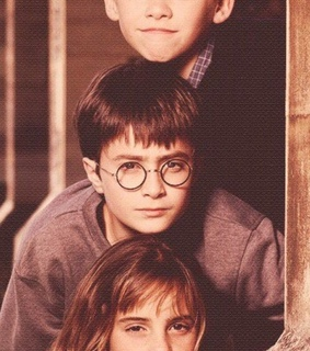 ron weasley, hermione granger and harry potter