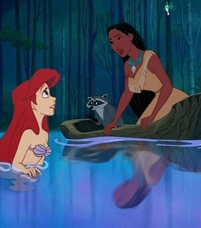 ariel, cartoon and crossover