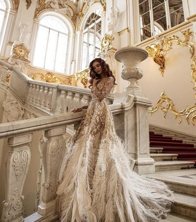 stairs, couture fashion and formal