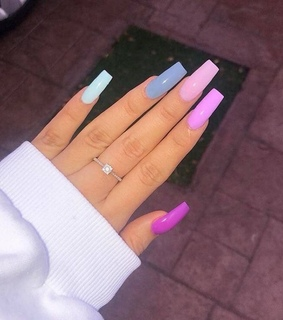 nails goals, colors and long nails