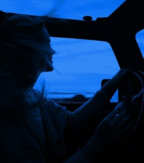 Road Trip, blue and driving