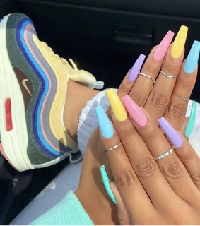 colorful nails, nails and nail art