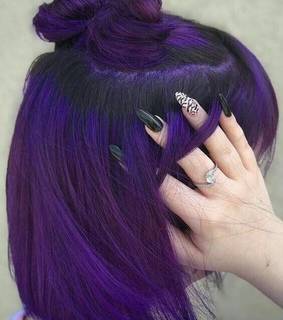 buns, colored hair and hair