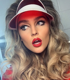 make up, perrie edwards and blonde