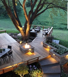 backyard ideas, chilling and furniture