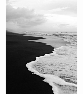 beach, black and white and blanco y negro