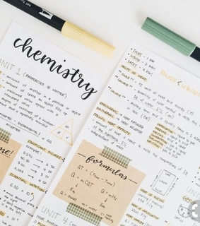 handlettering, notes and studygram
