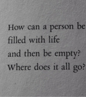 people, feelings and emptiness