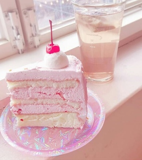 drink, cake and holographic