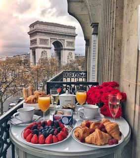 breakfast, romantic and morning
