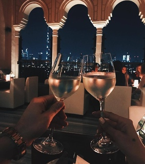 love, evening and drinks