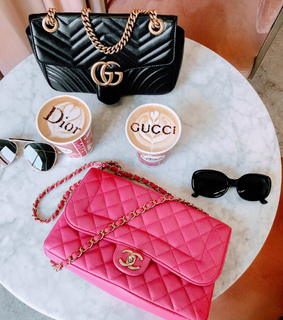 bags, chanel and coffee
