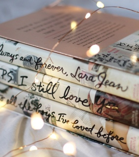 beautiful, books and fairy lights
