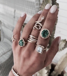 green, Nude and jewelry